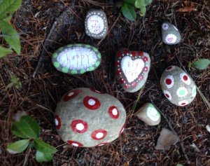 summer fun, making painted rocks and leaving them out in the world for anyone to fine and enjoy